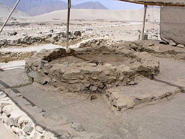 Altar del pueblo de Caral, la población más antigua conocida de América