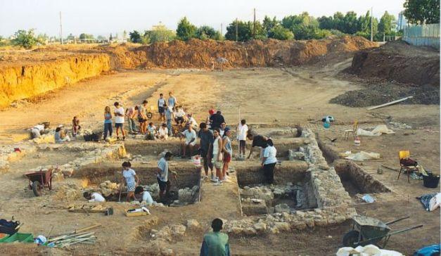 Trabajo en un yacimiento arqueológico