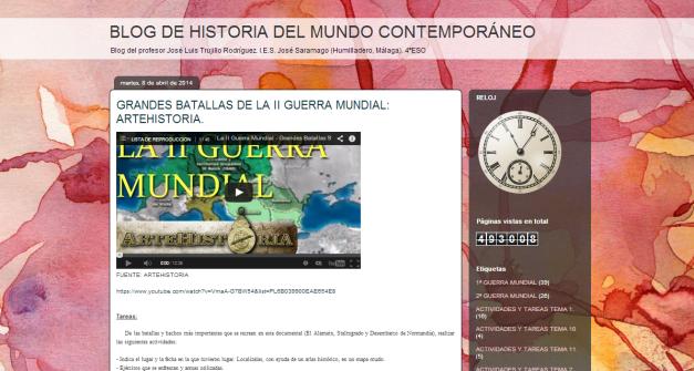 Blog de Historia contemporánea de Jose Luis Trujillo