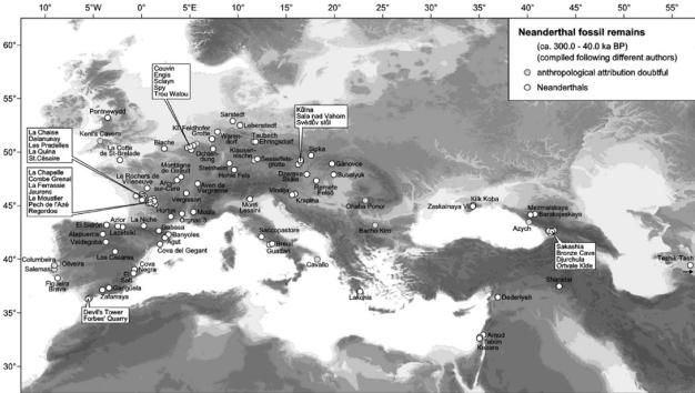 yacimientos neandertales