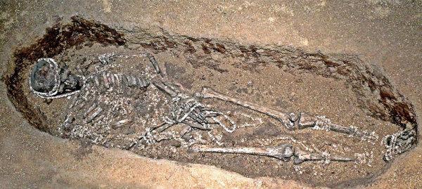 Yacimiento funerario ubicado en Sungir, Rusia