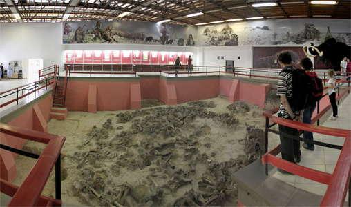 Museo en el que se halla el hábitat de Kostenki