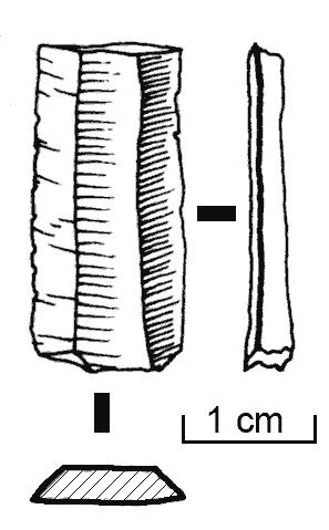 Muestra de un microlito de base laminar