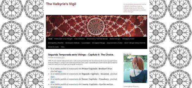Captura de pantalla de la página de inicio del blog