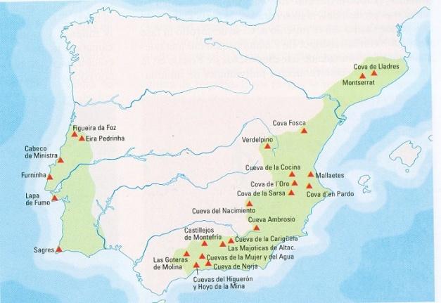 Algunos yacimientos del neolítico peninsular