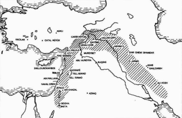 Algunos yacimientos neolíticos en los que se observa domesticación