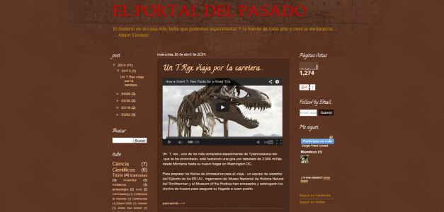Captura de pantalla del blog