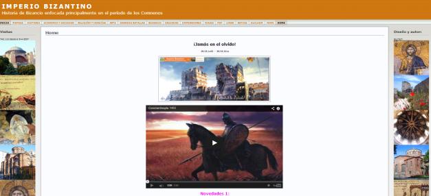 Captura de pantalla general de este gran blog bizantino