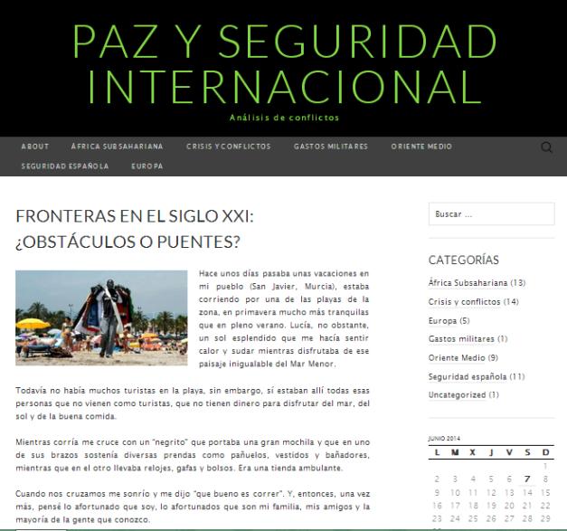 Captura de pantalla general del blog