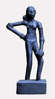 Destacada figurilla de bronce de Mohenjo Daro del 2500 a.C.