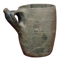 Ejemplo de pieza cerámica con pico vertedero