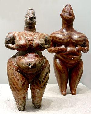 Figurillas antropomorfas femeninas halladas en Hacilar