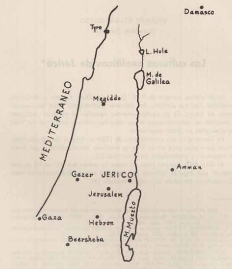 Mapa de situación del yacimiento de Jericó