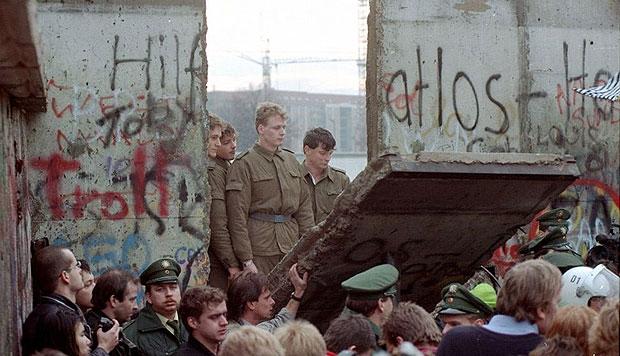 Caída del muro de Berlín en el año 1989