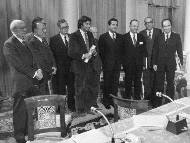 Representantes de los partidos políticos firmantes en los Pactos de Moncloa
