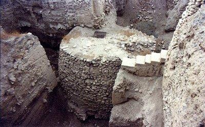 Parte del yacimiento de Jericó que muestra arquitectura excepcional