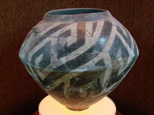 Pieza cerámica neolítica de Bulgaria de forma compleja