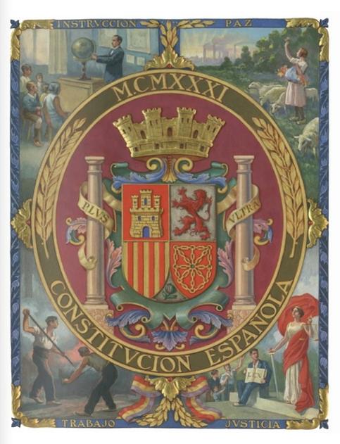 Portada de la Constitución española de 1931
