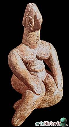 Representación antropomorfa femenina del neolítico griego inicial