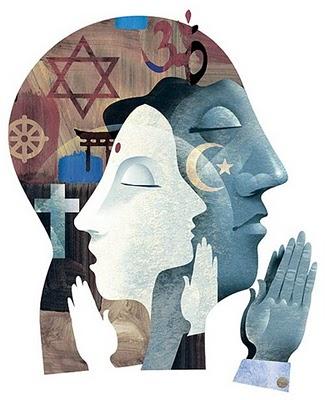 Representación simbólica de la libertad de culto religiosa