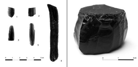 Seis piezas de obsidiana halladas en la Península Ibérica venidas desde el mundo griego, evidenciando las redes de intercambio