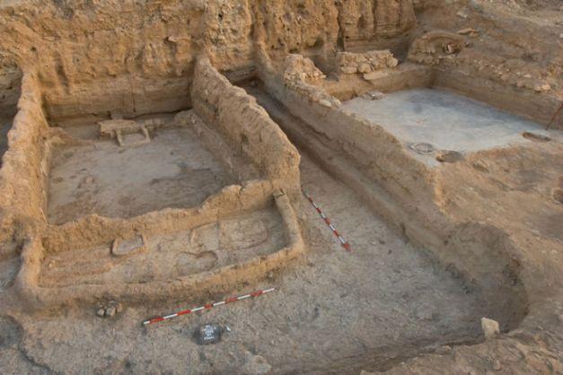 Una de las viviendas del yacimiento de Halula