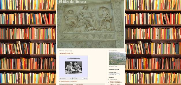 Captura de pantalla general de este blog