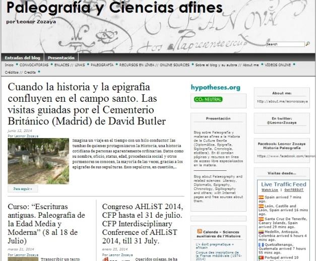 Captura de pantalla general de este gran blog