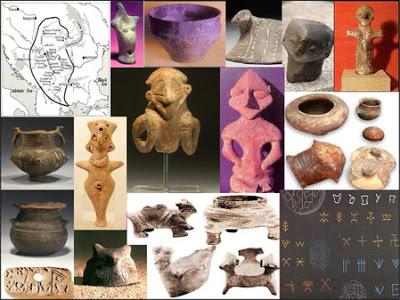 Collage de fotos con algunas de las piezas artesanales halladas en Vinça