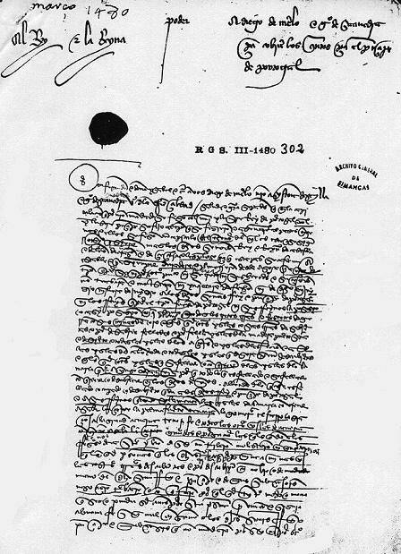 Ejemplo de un texto histórico de la España del siglo XV