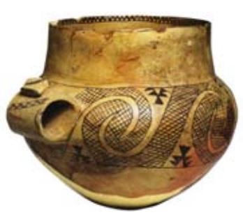 Pieza cerámica de la cultura de Diana, en Sicilia
