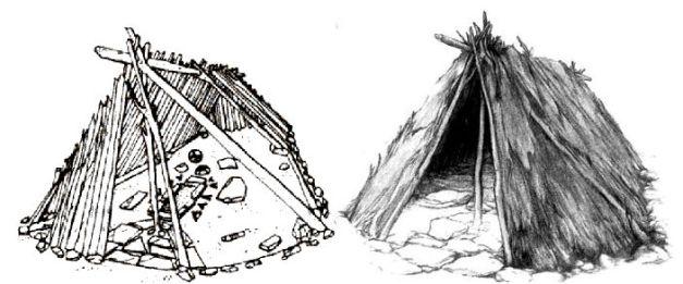 Reconstrucción de lo que sería una cabaña típica de Lepenski Vir
