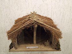 Reconstrucción de lo que sería una típica cabaña de la cultura de Cucuteni-Tripolje