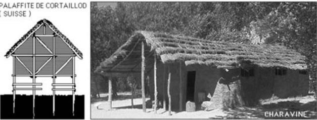 Reconstrucción de un modelo de cabaña típico de la cultura de Cortalloid