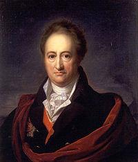 Una imagen que muestra al famoso escritor alemán Von Goethe