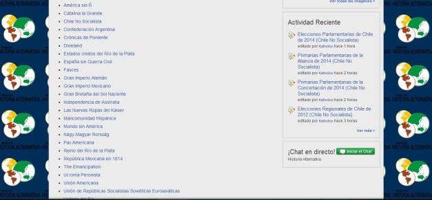 Captura de pantalla con algunos de los artículos más visitados