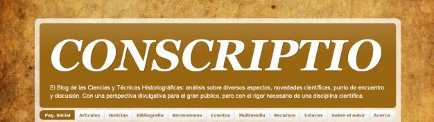 Captura de pantalla de la cabecera de este blog, en el que se aprecian sus distintas secciones