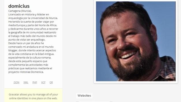 Captura de pantalla de la página de presentación de este gran bloguero