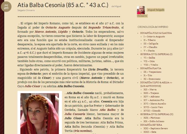 Captura de pantalla de uno de los artículos de este genial blog romano