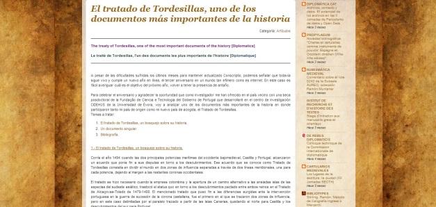 Captura de pantalla de uno los artículos de este gran blog