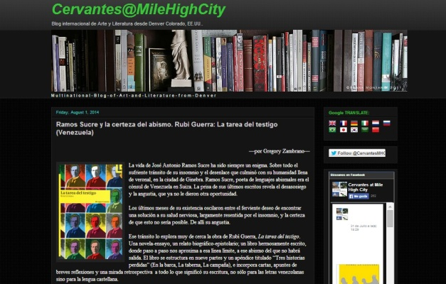 Captura de pantalla general de este gran blog artístico