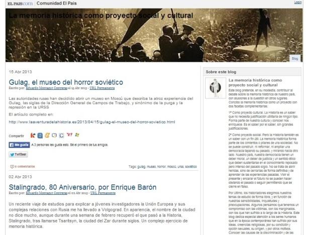 Captura de pantalla general de este recopilatorio de artículos sobre la URSS