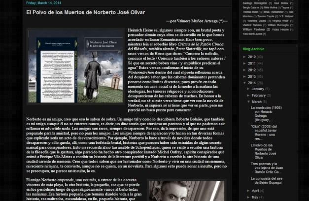 Captura de pantalla general de uno de los artículos de este blog