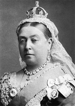 Fotografía de la Reina Victoria de Inglaterra del año 1882