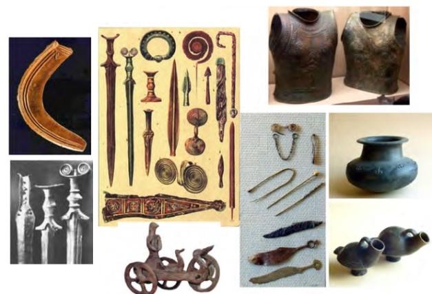 Imagen que muestra parte de la cultura material de la edad del Bronce final