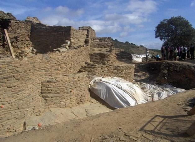 Imagen tomada durante las investigaciones en el yacimiento de Peñalosa