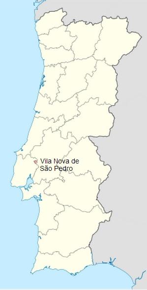 Localización en un mapa de Vila Nova de Sao Pedro