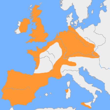 Mapa aproximado de la extensión del vaso campaniforme por Europa