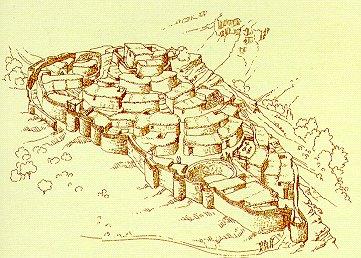 Reconstrucción de cómo debió ser el yacimiento de Peñalosa