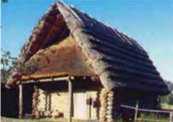 Recreación de la cabaña de un poblado fortificado del Bronce final